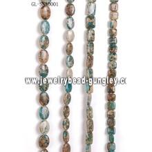 DIY gemstone snakeskin stone bead
