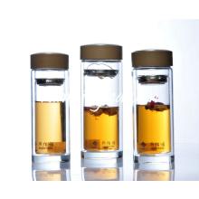 Thé à double mur en verre Tasse à thé