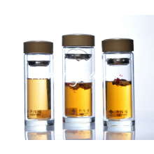 Double Wall Glass Tea Tumbler tea