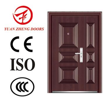 Vorderseite Haupttor Stahl Sicherheit Doppelte Tür