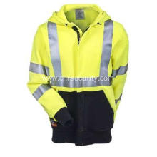 Men's High-Visibility Flame-Resistant Hooded Sweatshirt