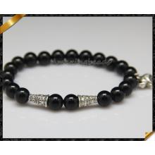 Encantos de prata jóias semi pulseiras de pedra preciosa (CB0122)