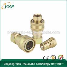 ISO 7241-B Type de fermeture hydraulique en laiton Type de couplage hydraulique (Acier)