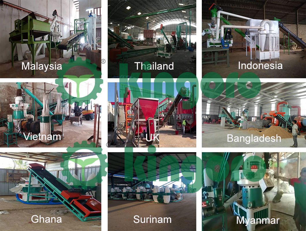 wood pellet production customer site