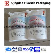 Bolsa plástica del canalón de aluminio para aceite / agua / detergente / líquido