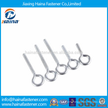 Carbon steel eye screw with machine thread