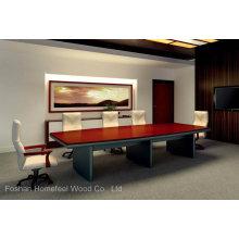 Mesa de conferência moderna de madeira de escritório de alta qualidade (HF-Ltd005)