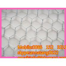 """3/4 """"гальванизированная гальванизированная шестигранная сетка из проволочной сетки"""