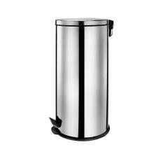 30 Litre Stainless Steel Flat Lid Pedal Bin