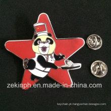 Fatura bonita do crachá do Pin de metal do esmalte do urso de China personalizada