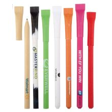 Straw Cap Eco-Friendly Recycled Paper Pen