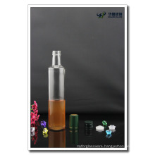 500ml 16oz Round Clear Empty Glass Bottle for Olive Oil