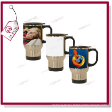 14oz Stainless Steel-Full Sublimation Mugs with White Patch by Mejorsub