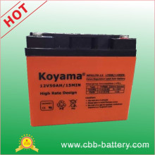12V50ah Maintenance Free Inverter Battery High Rate Discharge Battery