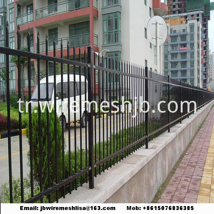 Powder Coated Zinc Steel Fence Panels