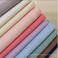 95% Coton 5% Spandex Linen Look Slub Tissu lavé