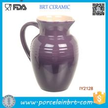 Purple Ceramic Pot with Handle Good China Tea Milk Pot