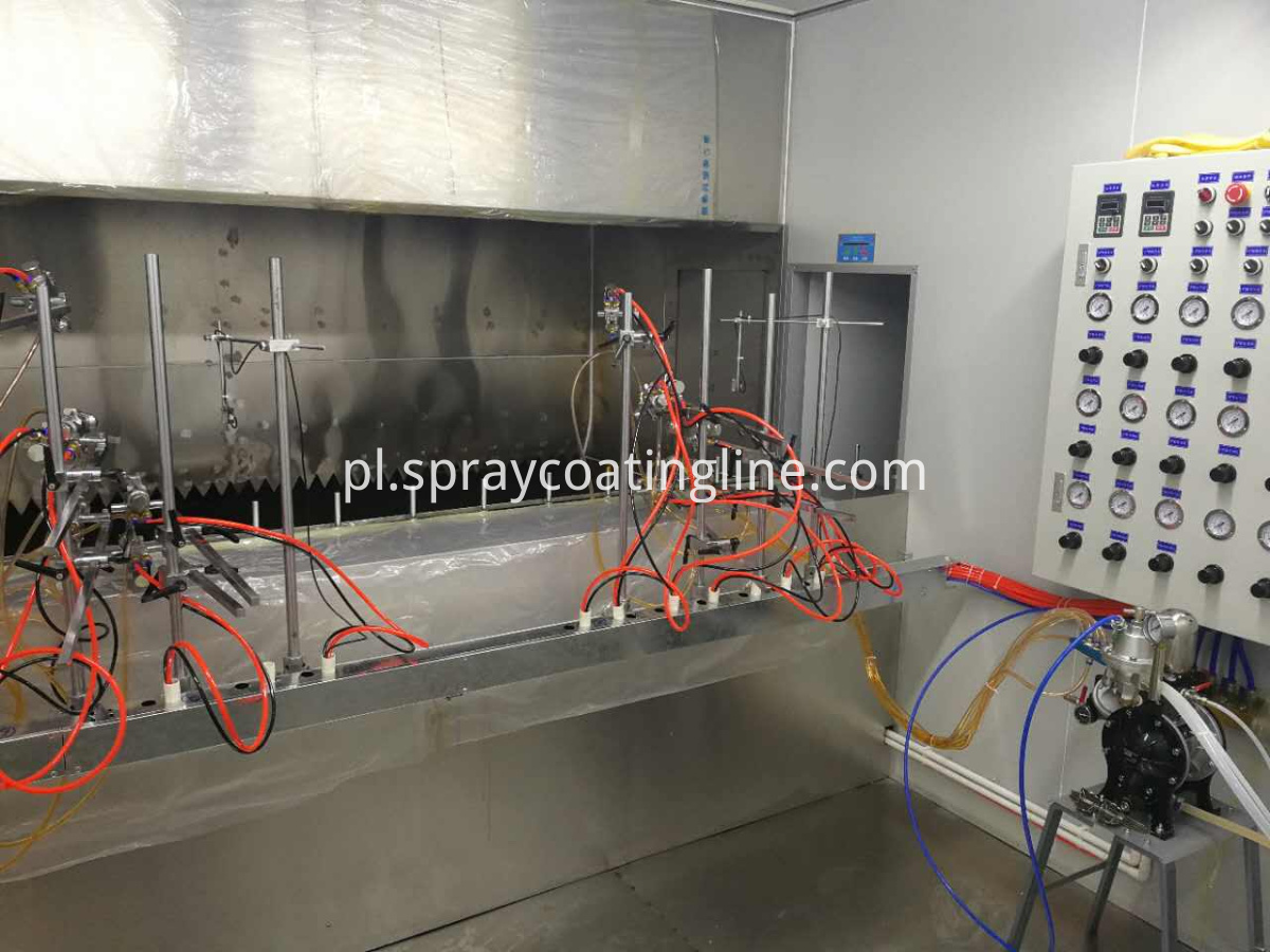 plastic uv spray line booth