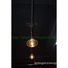Decorative wood and glass pendant lamp