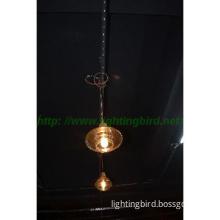 Decorative wood and glass pendant lamp