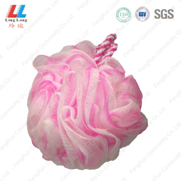 Squishy mesh nylon bath sponge ball