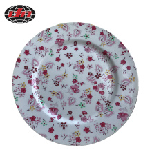 Colorful Flowers Plastic Charger Plate with Printing