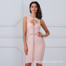 Ladies Bandage Dress Women Sexy Sleeveless Bodycon Dress Celebrity Dresses