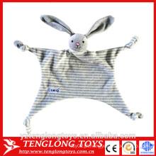 2016 novo produto barato brinquedos do bebê, cobertor coelho brinquedo para o bebê