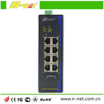 Switch POE de 8 portas de fibra