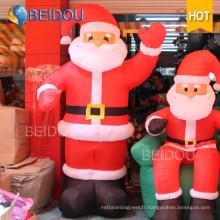 Décoration de Noël Publicité Santa Claus Giant Inflatable Christmas Santa