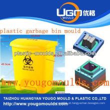 Lata de lixo colorido e molde de injeção de lixo de plástico de 2013 em taizhou, zhejiang