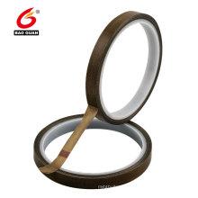 Cinta adhesiva resistente al calor marrón PTFE adhesivo de una cara