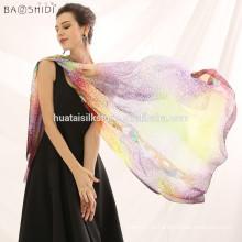 ГОРЯЧИЙ благородный способ женщин длинний мягкий Wrap повелительница Шаль Silk шифоновый шарф