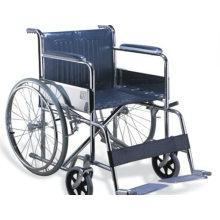 Fauteuil manuel en acier, chaise pliante et multifonctionnelle