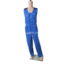 Polyeseter/Cotton Sleeveless Coverall