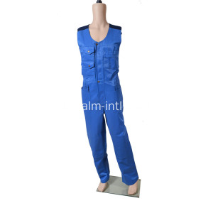 Polyeseter / Cotone Sleeveless Coverall