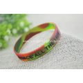 Promotional Embossed Printed Silicone Wristbands