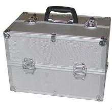 Maleta de ferramentas de alumínio portátil prateada da profissão do OEM para o armazenamento