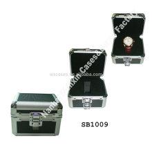 2014-2015 mejores cajas de reloj único vendedor aluminio por mayor con el encargo de la espuma Inserte fabricante