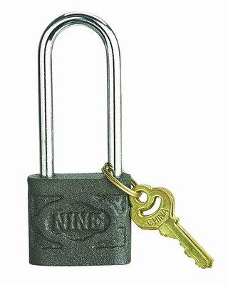 long shackle iron padlock