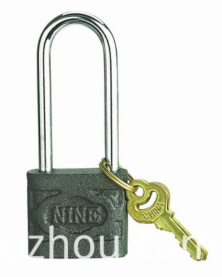 long shackle iron padlock