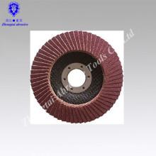 Disco de aba abrasiva revestida de baixo preço, disco de aba abrasiva revestida de alta qualidade