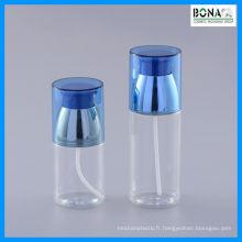 Bouteille cosmétique de bouteille de l'animal familier 100ml avec la pompe de lotion