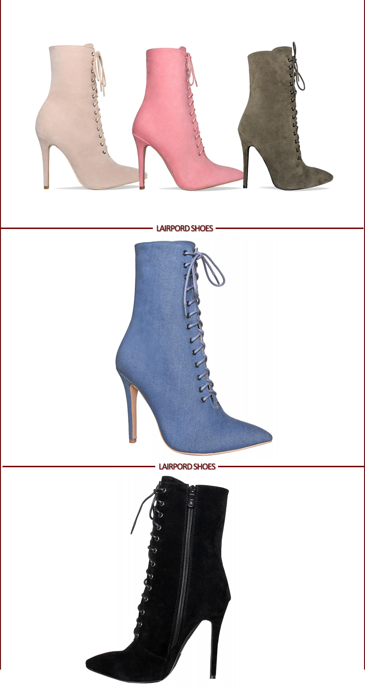 pink high heel women sexy ankle boots