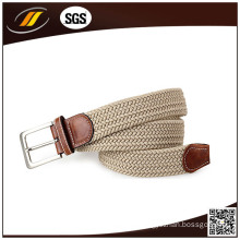 Casual Braided Waist Belt Polyester Pure Color Elastic Fabric Belts