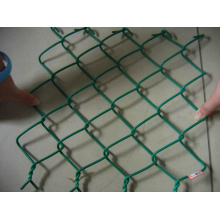 Panneaux de clôture à mailles de chaîne en PVC et à installation facile