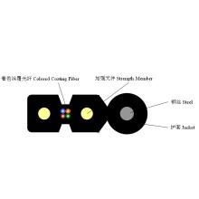Câble de suspension à fibre optique à arc autoportant