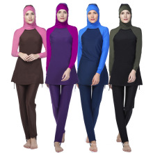 Garantia de qualidade muçulmano swimwear mulheres maiô roupas islâmicas