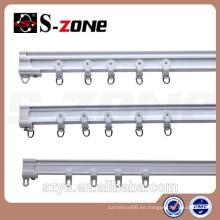 Szone SC09 curvas flexibles de esquina de plástico cortina rieles techos