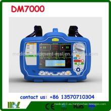 CE, ISO aprobado Desfibrilador Bifásico monitor DM7000 con SPO2 ECG y NIBP